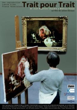 femme peignant un tableau affiché au mur